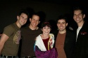 Sara Schmidt with Daniel Reichard, Christian Hoff, John Lloyd Young and J. Robert Spencer