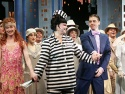 Delta Burke and Christian Borle (Jimmy) share a moment