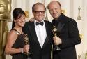 Cathy Schulman, Jack Nicholson and Paul Haggis