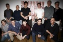 David Schwimmer with the cast including Zeljko Ivanek, Tin Daly, Terry Beaver, Murphy Guyer, Brian Reddy, Ben Fox, Geoffrey Nauffts, Joe Sikora, Tom Nelis, Brian Russell, Michael Quinlan, Robert Devaney and Paul David Story