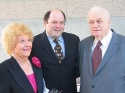 Charlotte Rae, Jason Alexander and Charles Durning