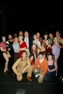 A parting shot of the company, with Marvin Hamlisch