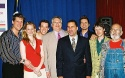 Christopher Sieber, Laura Linney, John Tartaglia, Harvey Fierstein, Senator David A.  Photo