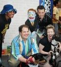 The cast of Avenue Q Photo
