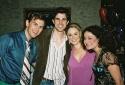Daniel Reichard, Matt Cavenaugh, Tina Maddigan and Christina Sivrich (The Wedding Sin Photo