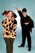 "Stephanie D'Abruzzo and David A. Austin in the short musical ""Martha Speaks,""