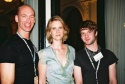 Cynthia Nixon with Trevor Project Volunteers, Joel Russell and Daniel Erickson