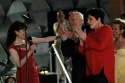 Bebe Neuwirth, Harold Prince and Liza Minnelli