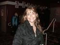 Film star, Karen Allen stops to strike a pose