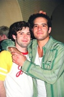 Bare composer Damon Intrabartollo with Aaron Lohr at the after-party at Fez Photo