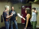 Michael, John and Jenna rehearse the new closing number while Damon looks on Photo