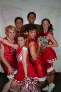 David Leidholdt (NYMF, Sr. Associate Producer) with the NYMFettes--Drew Little, Stefan Basti, James Beaudry, Candi Pennefather, and Alissa Hunnicutt