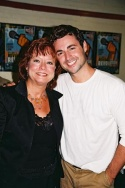 Max von Essen with his elementary school music teacher Andrea Patterson