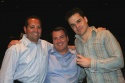 Mike DeSimone (NYMF Social Commitee), Jeff Jenssen NYMF Social Commitee) and Kris Stewart (NYMF Executive Director)