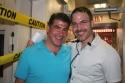 Bryan Batt (La Cage aux Folles) and Michael Graziano (BC/EFA)