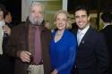 Stephen Sondheim, Darlene Krenz (Westport Country Playhouse board member) and Tony Award-winning Jersey Boys star John Lloyd Young