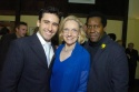 John Lloyd Young, Darlene Krenz and Tazewell Thompson, Westport Country Playhouse artistic director