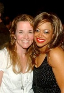 Lea Thompson with Beehive's Tina Turner, Stacy Francis