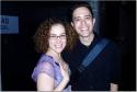 Mamma Mia!'s Britt Shubow congratulates Love's Fire pianist Adam Gwon Photo