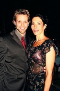 Adam Pascal (Radames) and wife Cybelle