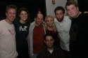 Greg Reuter, Nicole Parker, Jason Kravitz, Sarah Saltzberg, Steve Rosen (seated), David Rossmer, and James Corden