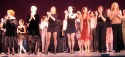 At curtain call from left to right: Arlene Dahl, Lynn Redgrave, Ann Reinking, Bebe Neuwirth, Rosie Perez, Karen Lynn Gorney, Leslie Browne.