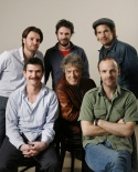 Playwright Tom Stoppard with, clockwise from bottom left, Billy Crudup, Jason Butler  Photo