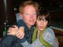 "Jesse Tyler Ferguson with ""Class""mate Lizzy Caplan ham it up for BroadwayWorld.com"