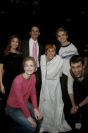Lorin Latarro and Lisa Gadja with cast members Keith Kühl, Lisa Brescia, Neil Haskell and Michael Arden