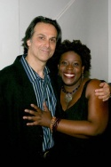 Composer/musician/collaborator Louis Rosen and Capathia Jenkins after their show at Joe's Pub