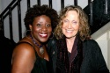 Capathia Jenkins greets her childhood music teacher Barbara Ames backstage