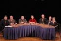 Robert Viagas, Harold Prince, Edward Albee, Lynn Ahrens, Terrence McNally, Stephen Flaherty and Kathleen Chalfant