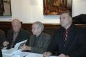 Terrence McNally, Edward Albee and Robert Viagas Photo