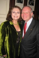 Randie Levine-Miller and Jean Pierre Trebot (President of the Friars Club)