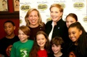 Emma Walton Hamilton and Julie Andrews with Justin Martin (The Lion King), Dylan Riley Snyder (Tarzan), Kelsey Fowler (Grey Gardens), Trevor Braun (Beauty and the Beast), Abigail Ferenczy (Grey Gardens) and Ashley Renee Jordan (The Lion King)