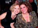 """Nancy Anderson who sang """"Romance"""" smiles with Mary Testa who performed """"Hard Hearted Hannah"""""""