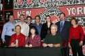 Joel Grey, Bebe Neuwirth and James Naughton with the Sony promotion team