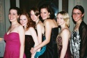 Meg Keene (NYMF, Operations Manager), Bonnie McLaughlin (NYMF, Marketing Manager), Sarah Ellis (NYMF, Gala Intern), Leslie Waters (NYMF, Gala Intern), Lauren Page Burner (NYMF, Gala Intern) and Jacqui Kaiser (NYMF, Gala Intern)