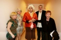 Cathy Rigby, Carol Channing, Michael Nouri, event sponsor Gene Dickey and Carol Burnett have fun backstage at intermission