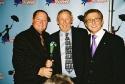 John Lasseter,Roy E. Disney (Disney legend and nephew of Walt Disney) and Thomas  Photo