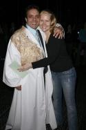 Rommy Sandhu and Rebecca Luker