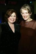 Ann Arvia (Miss Lark) and Cass Morgan (Bird Woman)