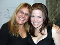 Broadway vocal coach Liz Caplan with Megan Hilty