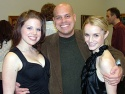"Jayson Raitt having a ""wicked"" time with Megan Hilty and Kate Reinders"