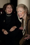 Betty Comden and Margaret Styne at the Players Club