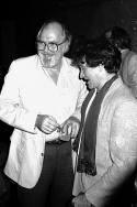 Robert Altman with Robin Williams at Time Bandits release party
