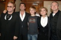 "Elton John and Liam Mower with ""X Factor"" Judges (from L to R) Simon Cowell, Sharon Osbourne and Louis Walsh"