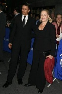 Joe Machota and Lauren Bacall Photo