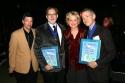 Michael Kerker, ASCAP Vice President of Musical Theatre, Michael Korie, Christine Ebe Photo