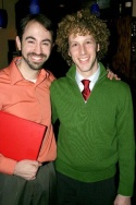 Pete Mills and Noah Weisberg, currently in rehearsals for Legally Blonde